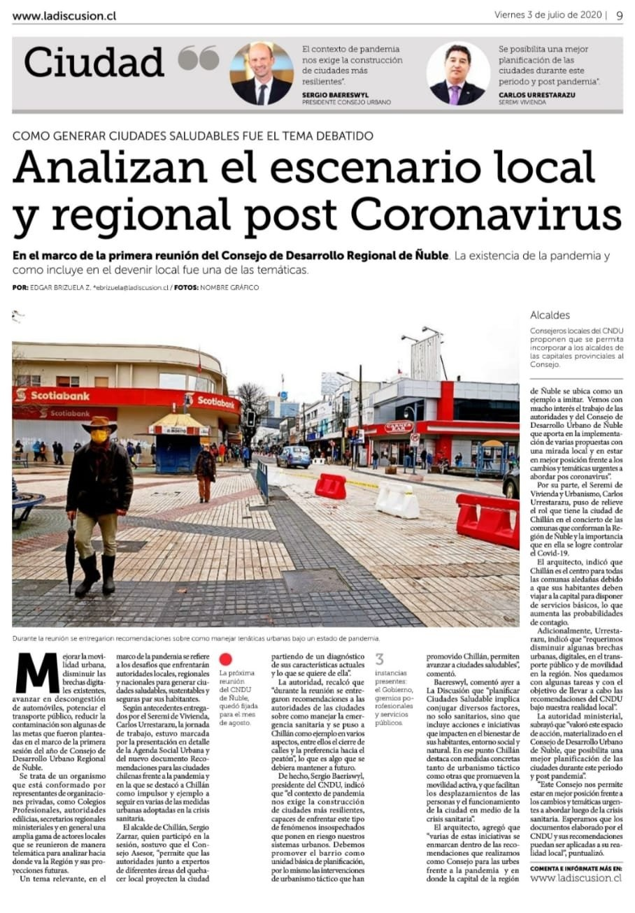 Analizan el escenario local y regional post Coronavirus